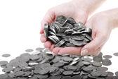 One polish zloty coins — Stock Photo