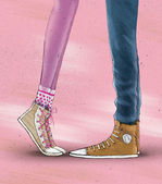 """Illustration of """"sneakers"""" — Stock Photo"""