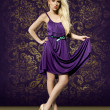 Fashion picture of an attractive young blond girl — Foto de Stock