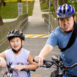 Stock Photo: Father and Son cyclist