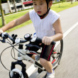 Stock Photo: Boy on bike