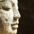 Close of of Buddha face — Stockfoto