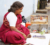 Indian fortune teller — Stock Photo