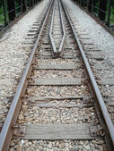 Railway track pointed — Stock Photo