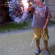 Boy with Fire crackers — Stock Photo
