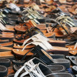 Hundreds of sandals — Stock Photo
