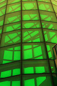 Green glass structure — Stock Photo