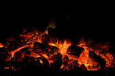 Charcoal fire — Stock Photo