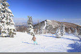 Ski run — Stock Photo