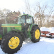 Tractor in  winter — Stock Photo