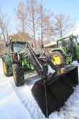 Tractor in winter — ストック写真