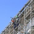 Construction work site and Scaffolding — Stock Photo