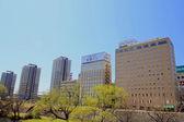 Morioka city in blue sky — Stock Photo