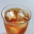 Cold glass of iced tea with ice — Stock Photo #9529255