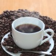 Coffee and coffee beans - Stock Photo