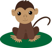 Cartoon baby monkey — Stock Vector