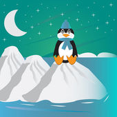 Lonely penguin — Stock Vector