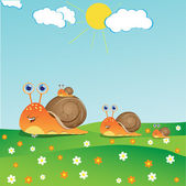 Family of snails — Stock Vector