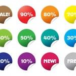 Vector set di icone in vendita — Vettoriale Stock  #9002957