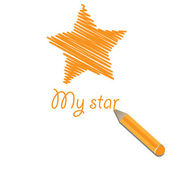 My star — Stock Vector