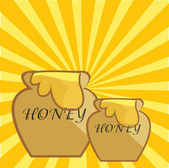 Honey pot — Stock Vector