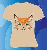 Happy cat T-shirt — Stock Vector