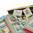Post stamps albums - Stock Photo
