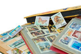 Post stamps albums — Stock Photo