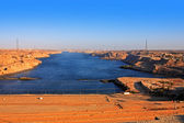 Aswan dam — Stock Photo