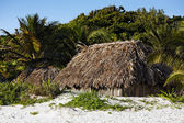 Cabana on the beach — Stock Photo