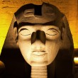 Ramses II statue Luxor temple - Stock Photo