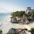 Stock Photo: Mayarcheologic site of tulum