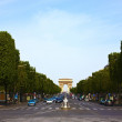 Champs Elysees Avenue Paris - Stock Photo