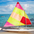 Sailing boat on the beach — Stock Photo #10151722