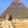 The sphinx & the pyramids - Foto Stock