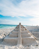 Mayan sand pyramid — Stock Photo