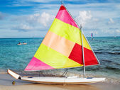Sailing boat on the beach — Stock Photo