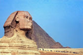 The sphinx & the pyramids — Stock Photo