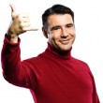Caucasian man gesture Shaka Sign — Stock Photo #8915084