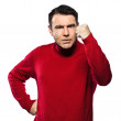 Caucasian man angry gesturing — Stock Photo #8915491
