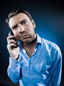 Man Portrait Frown bored — Stock Photo