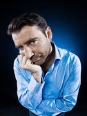 Man Portrait Sulk Bored — Stock Photo