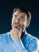 Muž portrét myšlení — Stock fotografie