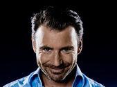 Man Portrait Smiling malicious sneaky — Stock Photo