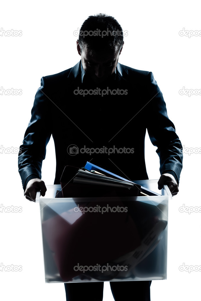 One caucasian man portrait silhouette carrying heavy box in studio isolated white background — Stock Photo #8913502