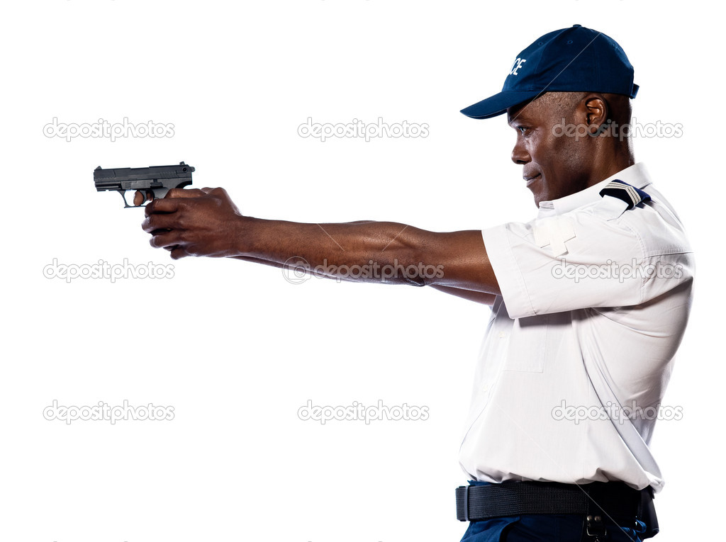 Male policeman officer shooting - 54.1KB