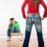 Man woman confrontation — Stock Photo