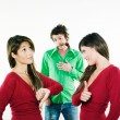 Women choosing man — Stock Photo #9077076