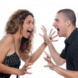 Couple Portrait dispute screaming — Stock Photo #9077873