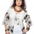 Stock Photo: Large build caucasian woman spring summer fashion